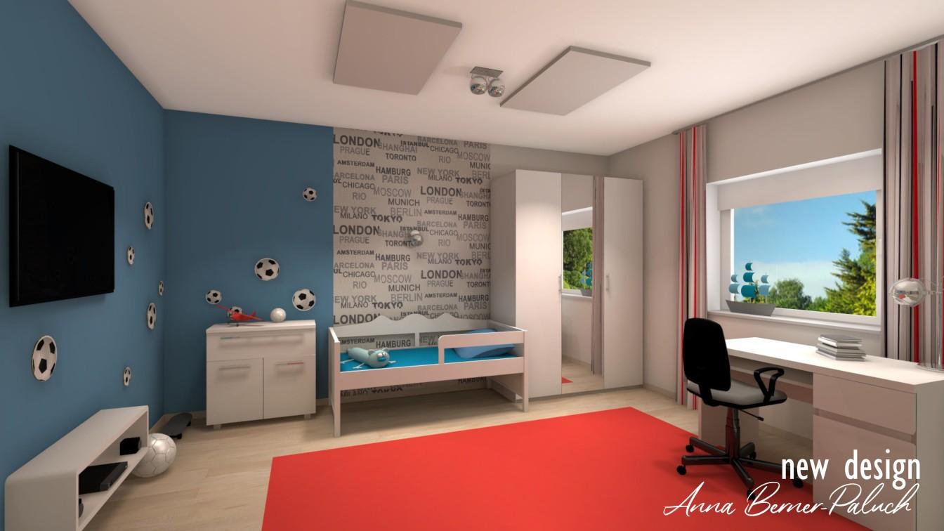 Pokój dziecka – Architektura wnętrz Anna Berner Paluch www.new-design.pl